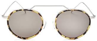 Illesteva Women's Wynwood Ace Brow Bar Round Sunglasses, 51mm