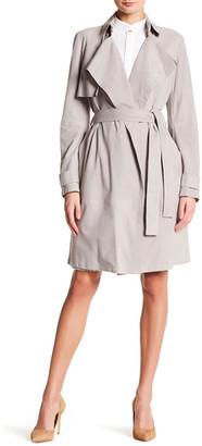 BOSS HUGO BOSS Sobree Genuine Suede Trench Coat $1,295 thestylecure.com