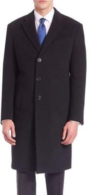 Armani Collezioni Long Sleeve Wool-Cashmere Coat