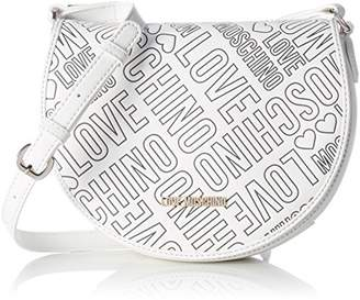 Love Moschino Borsa Embossed Pu Bianco, Women's Shoulder Bag, Weiß (), 18 x 23 8 cm (wxhxd)
