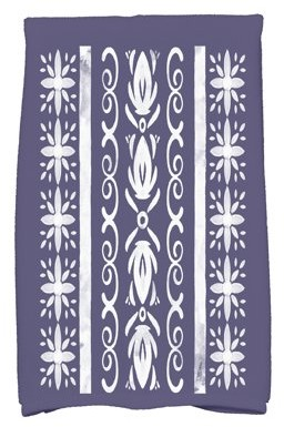 Simply Daisy, 16 x 25 Inch, Cuban Tile 2, Geometric Print Kitchen Towel, Navy Blue