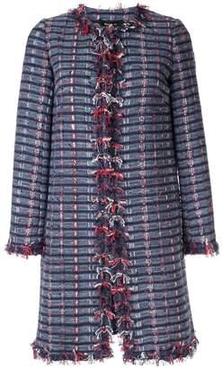 Paule Ka woven checked coat