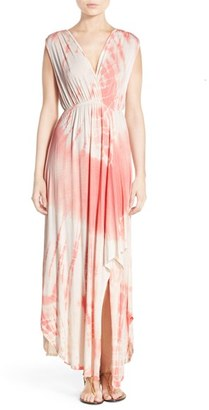 Women's Fraiche By J Tie Dye High/low Hem Maxi Dress $108 thestylecure.com
