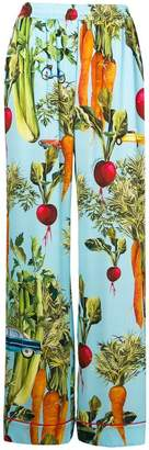 Dolce & Gabbana vegetable printed flared trousers