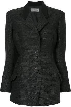 Issey Miyake Pre-Owned structured fitted blazer