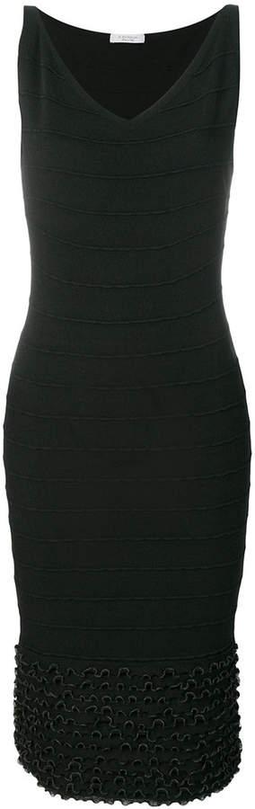 D.Exterior Hautenges Kleid mit V-Ausschn...