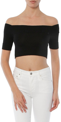 Minnie Rose Knit Tease Crop Top $93 thestylecure.com