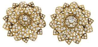 Christian Lacroix Crystal Floral Heart Brooch
