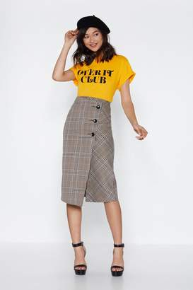 Nasty Gal Keep Yourself in Check Midi Skirt