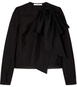 Givenchy Bow-detailed Mohair And Wool-blend Top - Black