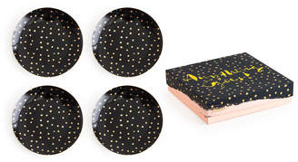 Rosanna Anything Goes Gold Dots Porcelain Plates, Set of 4
