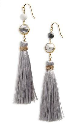 Women's Panacea Stone Tassel Earrings $32 thestylecure.com