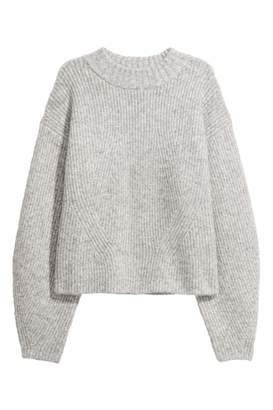 H&M Knit Sweater - Light gray melange - Women