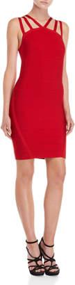 Bebe Red Strappy Bandage Dress