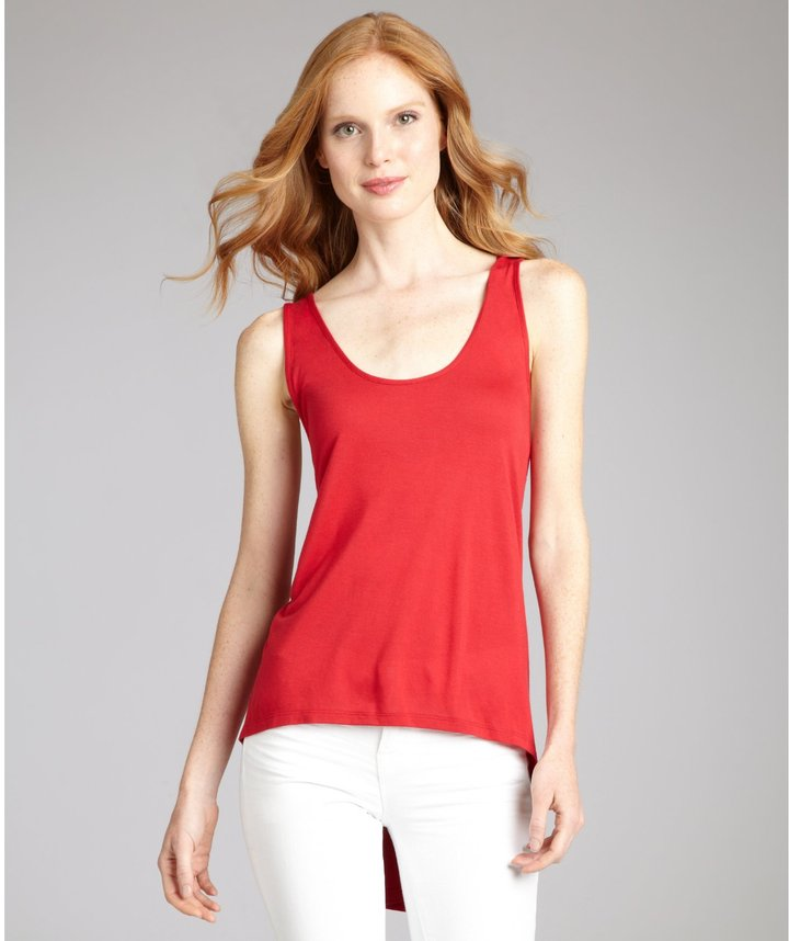 Gryphon Red Jersey Braided Racerback Tank