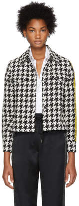 Off-White Off White Black and White Houndstooth Crop Shirt