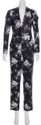 Rebecca Taylor Printed Blazer and Straight-Leg Pantsuit