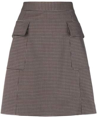 See by Chloe A-line houndstooth print skirt