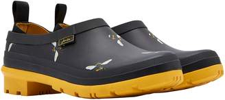 Next Womens Joules Black Bees Slip-On Welly Clog