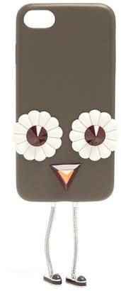 Fendi Blossom-embellished leather iPhone® 7 case