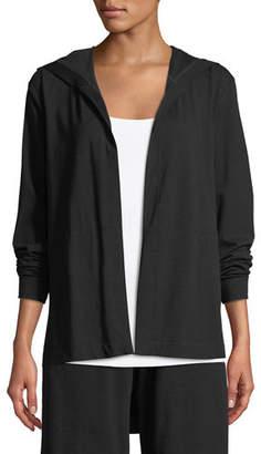 Eileen Fisher Organic Cotton Jersey Hooded Cardigan