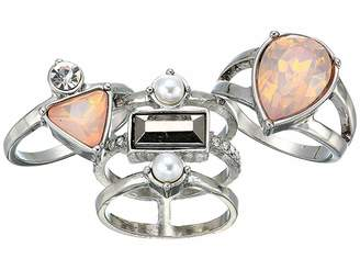 GUESS Three-Piece Stone Ring Set