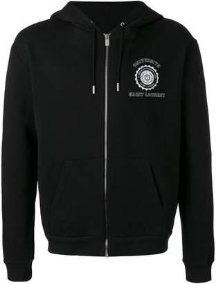 Saint Laurent printed hooded sweatshirt