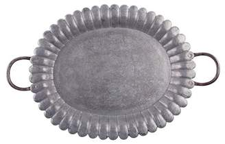 "Home Essentials and Beyond 20"" Galvanized Oval Tray"