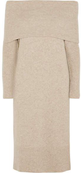 J.Crew - Lana Off-the-shoulder Knitted Midi Dress - Beige