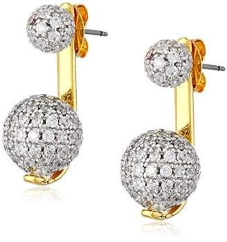 Noir Gold Pave Sphere Earrings Jackets