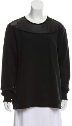 MM6 MAISON MARGIELA Sheer-Accented Crew Neck Sweatshirt w/ Tags