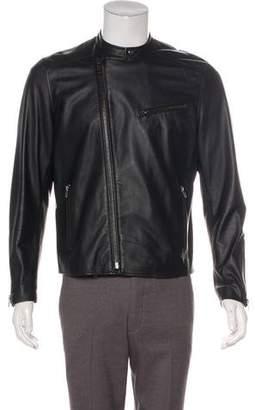 Shipley & Halmos Leather Café Racer jacket