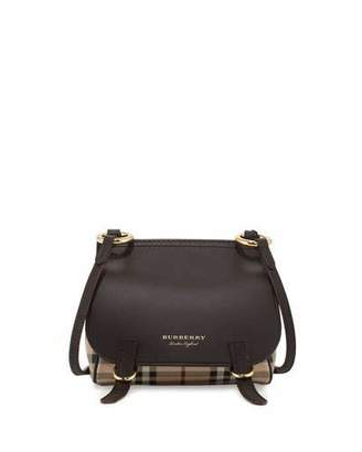 Burberry Bridle Baby Haymarket Check Shoulder Bag, Dark Clove Brown $795 thestylecure.com