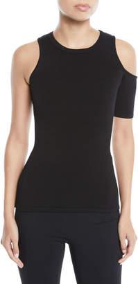 Cushnie et Ochs Crewneck Sleeveless Cold-Shoulder Knit Top