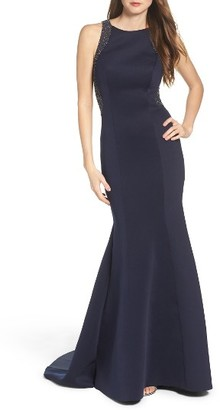 Women's La Femme Embellished Mermaid Gown $478 thestylecure.com