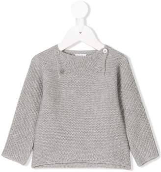 Il Gufo button front knitted jumper