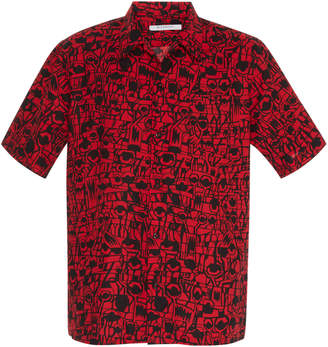 Givenchy Printed Cotton-Poplin Button-Up Shirt
