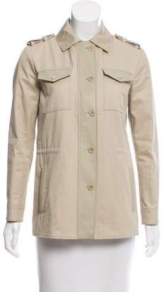 Loro Piana Leather-Trimmed Utility Jacket