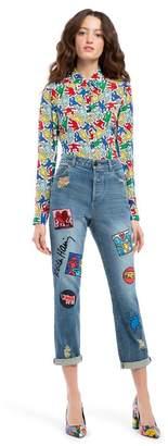 Alice + Olivia Keith Haring X Ao Byron Jean