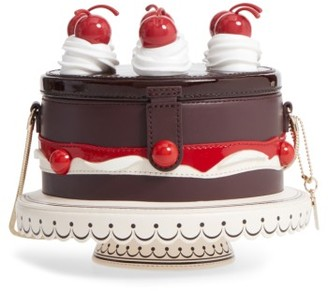 Kate Spade New York Ma Cherie - Cherry Cake Leather Shoulder Bag - Brown $398 thestylecure.com