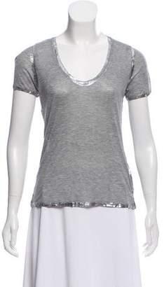 Zadig & Voltaire Metallic V-Neck T-Shirt