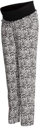 H&M MAMA Patterned Pants - White