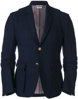 Thom Browne Articulated Wool Flannel Sport Coat