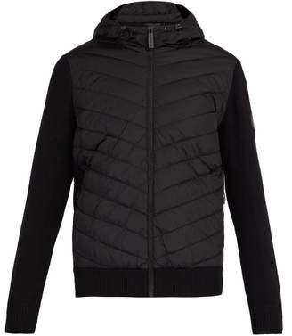 Canada Goose Hybridge Wool Knit And Quilted Down Jacket - Mens - Black
