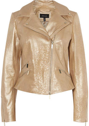 Karen Millen Metallic Leather Jacket