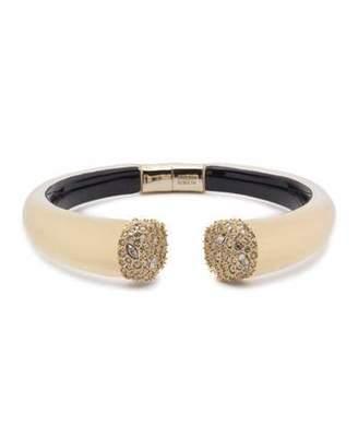 Alexis Bittar Pavé Crystal Break Hinge Bracelet, Golden