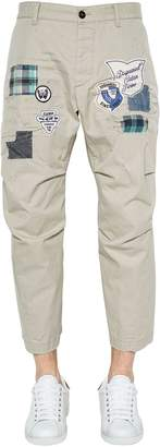 DSQUARED2 19cm Skipper Patches Twill Chino Pants