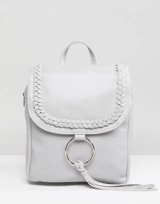 Glamorous Braid Detail Backpack With Ring & Tassel Detail