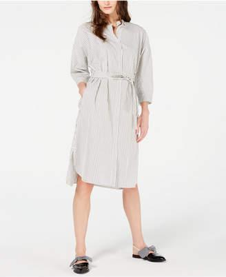 1c14b0000c Max Mara Urbano Cotton Striped Shirtdress