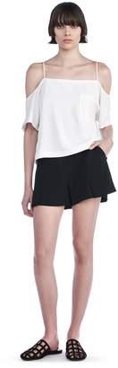Alexander Wang Poly Crepe Flutter Shorts